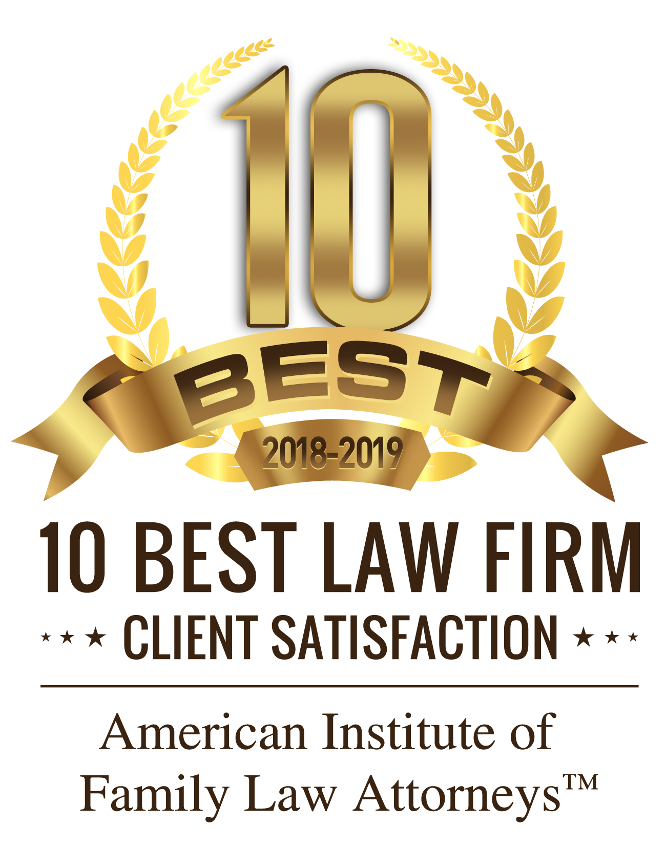 10 Best Law Firm Award for Client Satisfaction